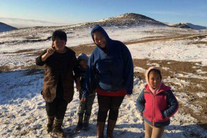Nomad family Hustai Winter Tiara Tours
