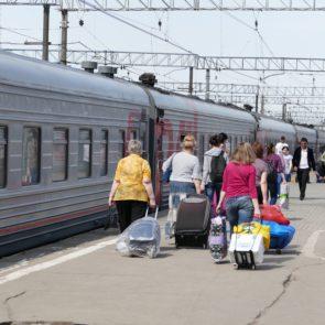 Perron Transsiberië Express station