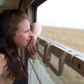 Uitzicht Trans Mongolië Express