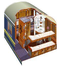 Venice Simplon Orient Express Trein coupe 2
