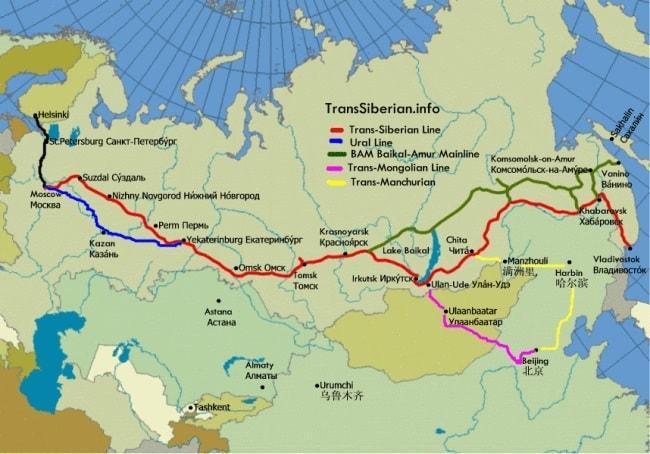 route transsiberië express