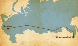 routekaart trans siberië express